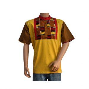chemisette deux tons jaune
